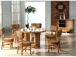 Wicker Rattan Dining Chairs Furniture Indoors Room Set Indoor Table And