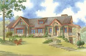 Adirondack House Plans by 5025 Adirondack Place Home Plan With Columns And Timber
