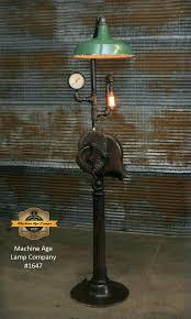 Steampunk Industrial Floor Lamp Antique Blacksmith Blower Lancaste