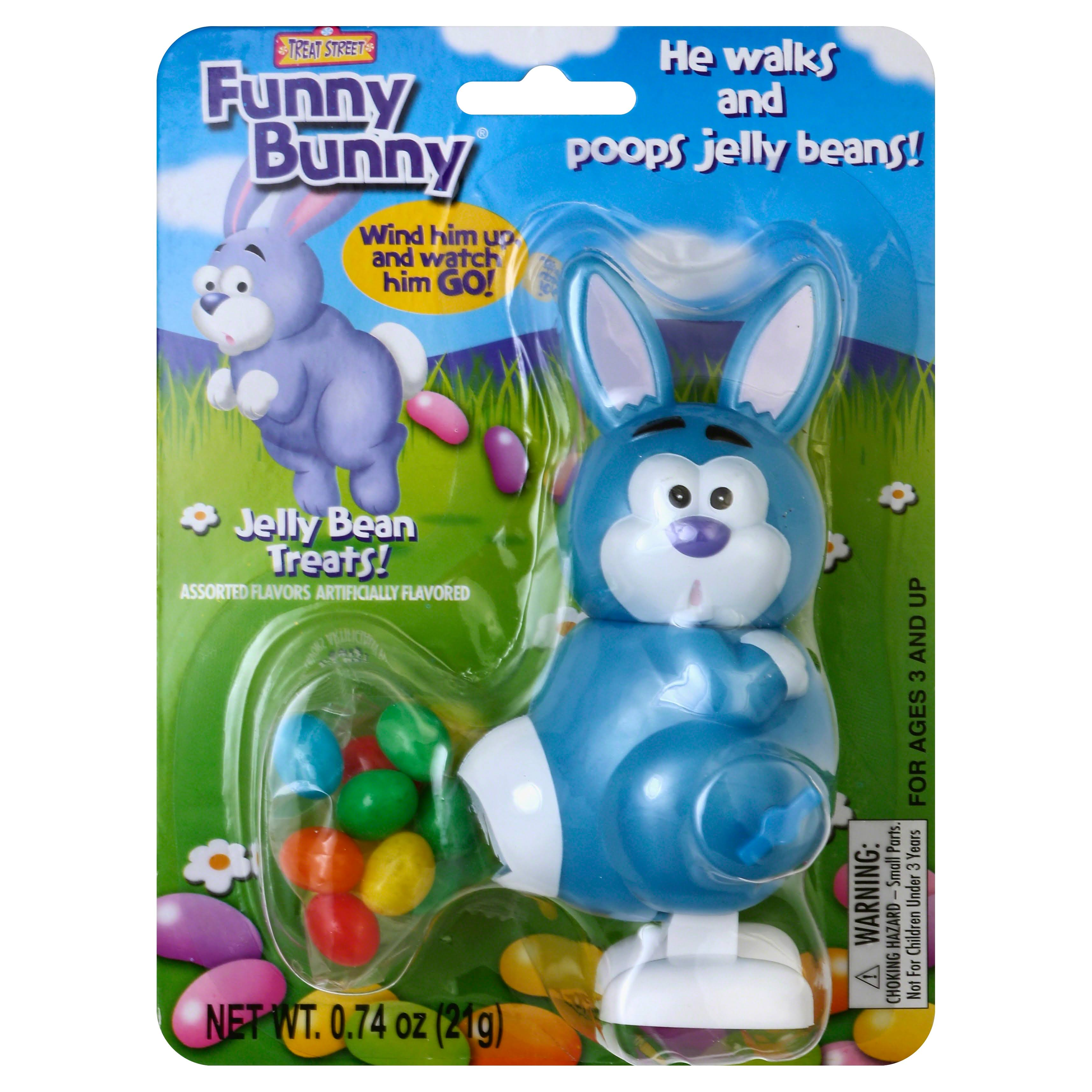 Funny Bunny Wind-up Jelly Bean Pooping Easter Bunny Candy Dispenser