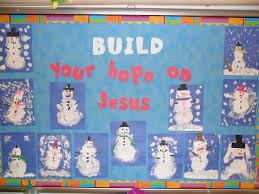 Winter Christian Bulletin Board