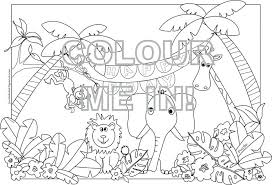 Jungle Junction Printable Coloring Pages Safari Animals Disney Large Size