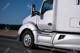 Modern Smooth Bonnet Classic Pearl Silver Big Rig Semi Truck.. Stock ... 2015 Daimler Supertruck Top Speed Tesla To Enter The Semi Truck Business Starting With Semi Improving Aerodynamics And Fuel Efficiency Through Hydrogen Generator Kits For Trucks Better Gas Mileage For Big Trucks Ncpr News Carpool Lanes Mercedesamg E53 Fueleconomy Record Scanias Tips On How Reduce Csumption Scania Group 2017 Ram 2500hd 64l Gasoline V8 4x4 Test Review Car Driver Heavy Ctortrailer Aerodynamics The Lyncean Of Fuel Economy Intertional Cporate Average Economy Wikipedia