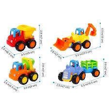 Amazon.com: Friction Powered Cars, Push And Go Toy Trucks ...