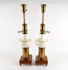 Stiffel Brass Lamp Value by Lenox Vintage Brass Wood And Ceramic Stiffel Lamps Ebth