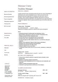 Leasing Manager Resume Property Sample A Facilities