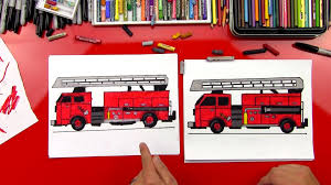 100 Fire Truck Drawing How To Draw A Art For Kids Hub