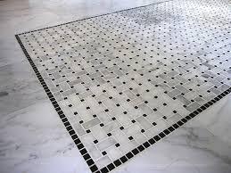 amazing mosaic floor tile and carrara basketweave mosaic