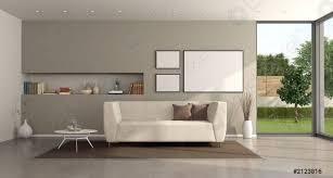 foto auf lager minimalistisches wohnzimmer einer modernen villa