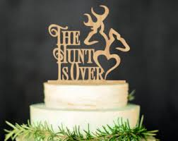 Deer Wedding Cake Topper The Hunt Is Over Rustic Country