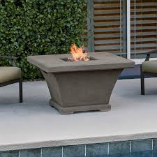 real flame monaco 42 inch square chat height propane gas fire