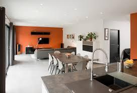 salon salle a manger cuisine idee deco salle a manger cuisine moderne et rustique decoration