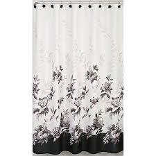 Black And White Flower Shower Curtain by Amazon Com Lenox Shower Curtain Moonlit Garden Home U0026 Kitchen