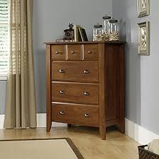 shoal creek dresser jamocha sauder shoal creek 4 drawer oak chest 410288 the home depot