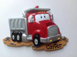 100 Red Dump Truck Construction Personalized Christmas Etsy