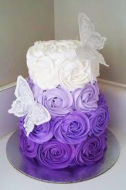 36 Spectacular Buttercream Wedding Cakes Butterfly Birthday CakesPurple
