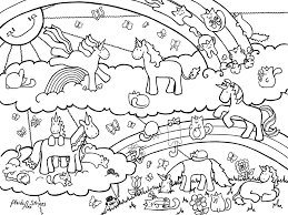 Printable 12 Unicorn Rainbow Coloring Pages 5975