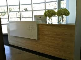 Executive Office Design Layout With Wooden Reception Desk