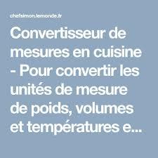 tableau de conversion pour cuisine les 25 meilleures idées de la catégorie convertisseur système