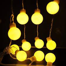 5 m led outdoor waterproof 5cm large globe string lights