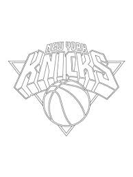 Click To See Printable Version Of New York Knicks Logo Coloring Page