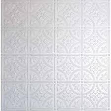 White Tin Ceiling Tiles Home Depot by White Tin Style Plastic Drop Ceiling Tiles Ceiling Tiles