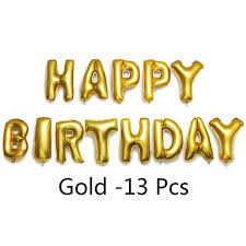 SELF INFLATING HAPPY Birthday Banner Foil Balloon Bunting Letters