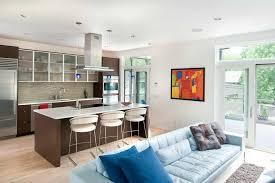 stilvolles interieur küche wohnzimmer in einer normalen