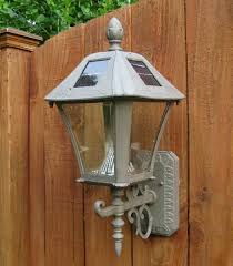outdoor led light solar powered wall mounted sconces for