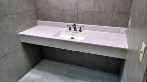 Bertch Bathroom Vanity Tops by Floating Onyx Vanity Top In Blizzard With Olympic Bowl In Arctic