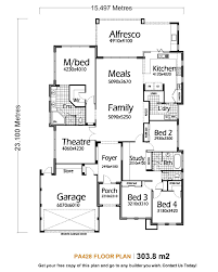 House Plan Single Story Five Bedroom Plans With Modern