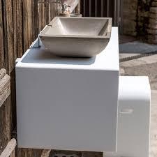 100 Hi Macs Sinks Design Hanging Washbasin Top In Wood And White Osimo