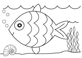 Coloring Pages For Kids Online Fish Template Printable In Plans