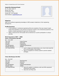 Best Resume Format For Freshers Download Mechanical In Engineer Fresher