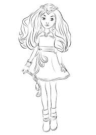 Coloring Pages Best Of Descendants 2 And From Wicked World Page Mal Evie Full Size