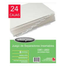 Wilson Jones Separadores 5 Divisiones Tamaño Carta Costco Mexico