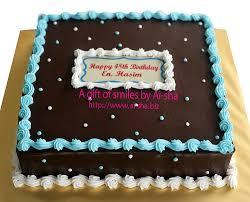 Chocolate Square Birthday Cake Birthday cake edible image