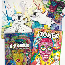 Stoner Gifts Kit Art Adult Coloring By DOmaniaPower