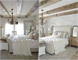schlafzimmer im landhausstil modern tapete in holzoptik