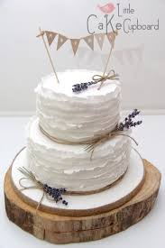 Ruffle Rustic Wedding Cake