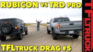 This One Is Close! Jeep Wrangler Rubicon Recon Vs Toyota Tacoma TRD ... Jeep Wrangler Unlimited Rubicon Vs Mercedesbenz G550 Toyota Best 2019 Truck Exterior Car Release Plastic Model Kitjeep 125 Joann Stuck So Bad 2 Truck Rescue Youtube Ridge Grapplers Take On The Trail Drivgline 2018 Jeep Rubicon Jl 181192 And Suv Parts Warehouse For Sale Stock 5 Tires Wheels With Tpms Las Vegas New Price 2017 Jk Sport Utility Fresh Off Truck Our First Imgur Buy Maisto Wrangler Off Road 116 Electric Rtr Rc