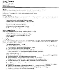 Objectives For Teaching Resume Good Objective Teaching Resume Best