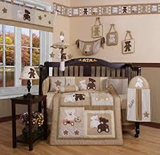 amazon com geenny boutique 13 piece crib bedding set baby teddy