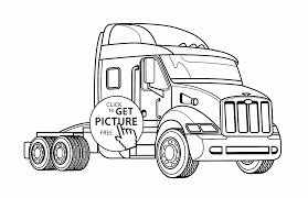 100 Coloring Pages Of Trucks Real Semi Truck Coloring Page For Kids Transportation Coloring