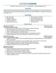 Warehouse Job Resume Detail No Experience Free Samples Examples Ue E118928