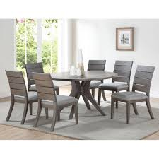 The Gray Barn Abernathy Grey And Oak Wood 54-inch Round Modern Dining Table
