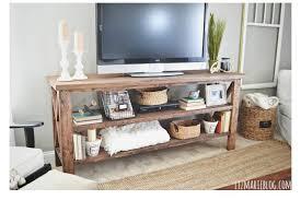 A Rustic DIY TV Stand