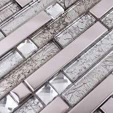 glass and metal tile backsplash ideas bathroom stainless steel
