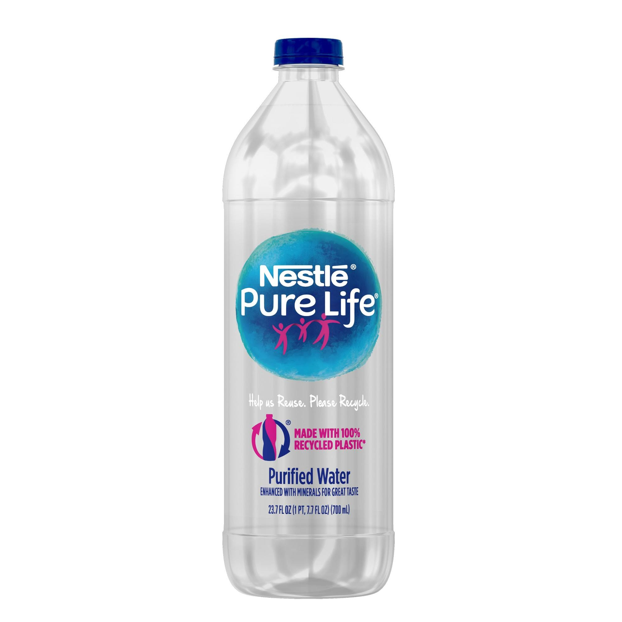Nestle Pure Life Water, Purified - 23.7 fl oz