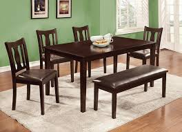 Corner Dining Room Table Walmart by Amazon Com Furniture Of America Jolene 6 Piece Dining Table Set